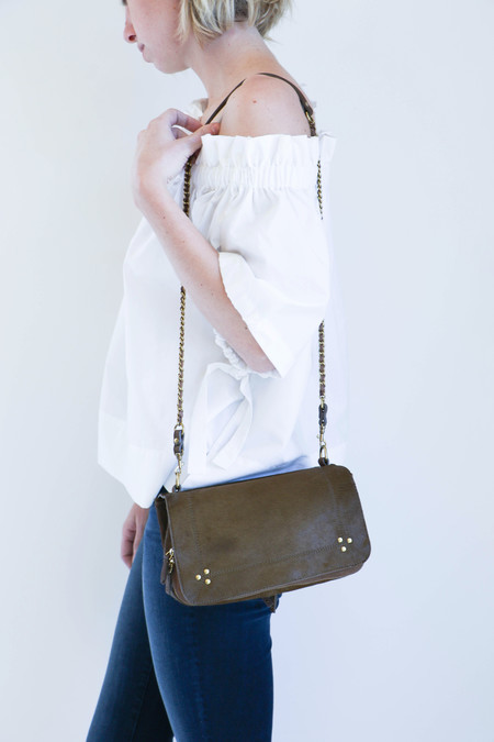 Jerome Dreyfuss Bobi Bag in Bronze Pony Calfskin