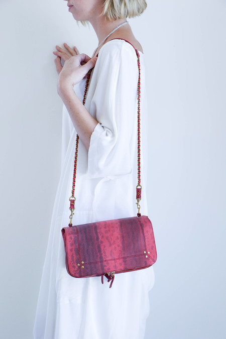 Jerome Dreyfuss Bobi Bag in Rose Snakeskin