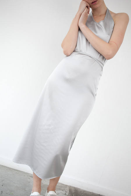 Baserange Apron Dress in Silver