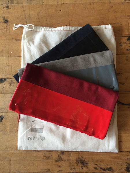 wrk-shp paint dipped clutch