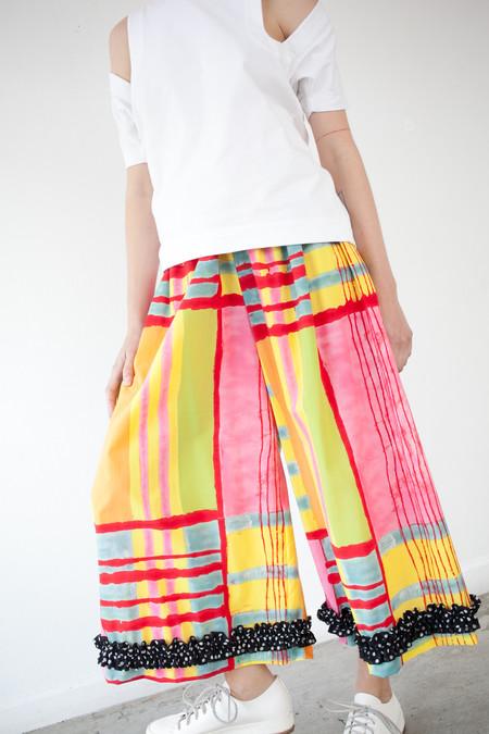 Nancy Stella Soto Trousers in Dot Ruffle Print