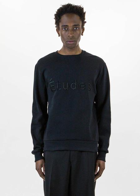 Etudes Etoile Full Black Sweatshirt