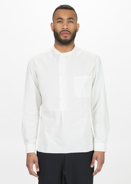 Sage de Cret Collarless Half Button Shirt