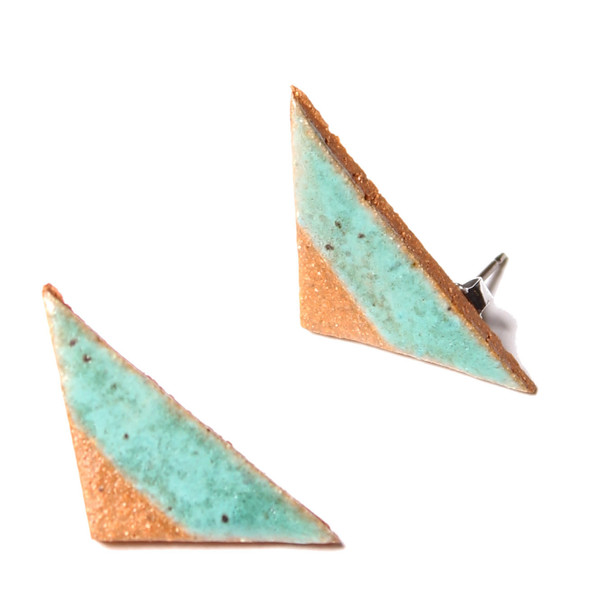 Maple & Mauve Arrows in Natural Stone Turquoise