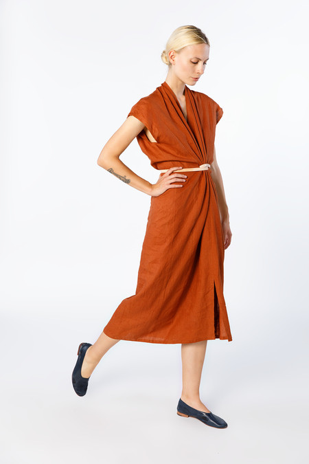 Miranda Bennett Knot Dress - Linen in Marfa