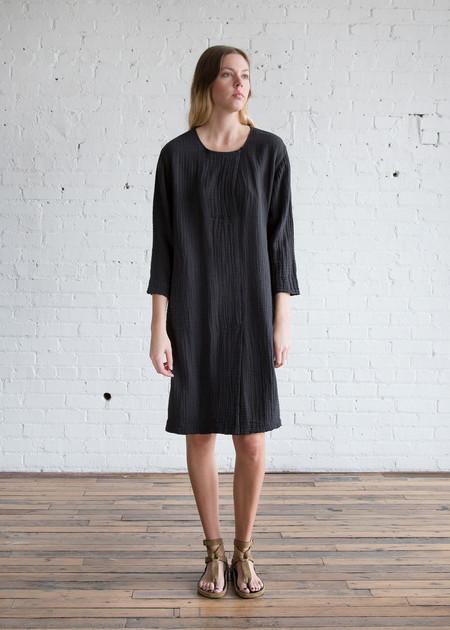 Raquel Allegra Boxy Day Dress Black