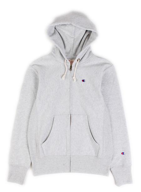 Champion Reverse Weave Full Zip Hoodie Grey