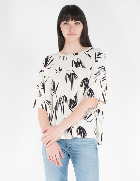 Just Female Maise SS Blouse Fern Print