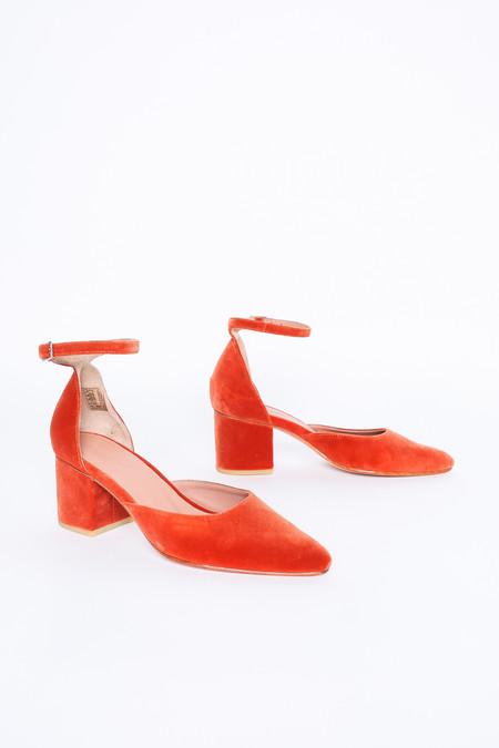 Rachel Comey Tetra Heel in Salmon Velvet