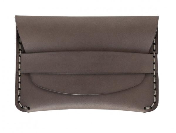 MAKR Flap Slim Wallet in Charcoal