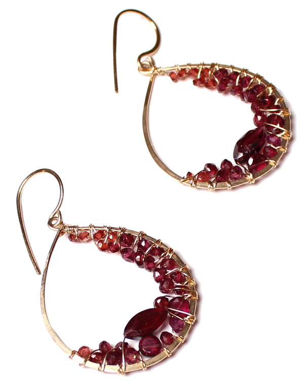 James and Jezebelle Garnet Hoops