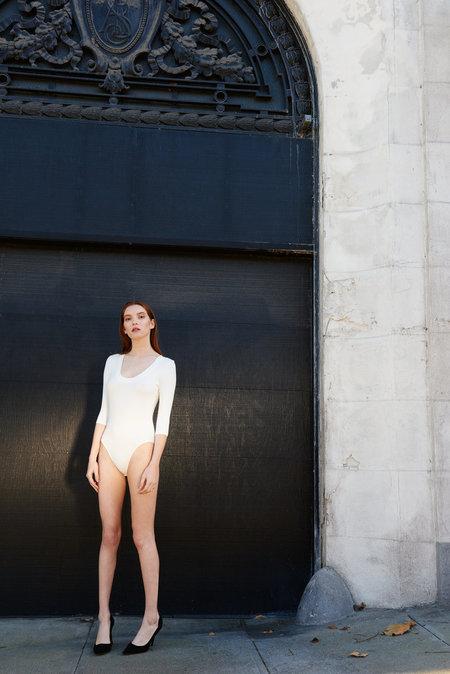 KAMPERETT Shadow Knit Bodysuit - Ivory