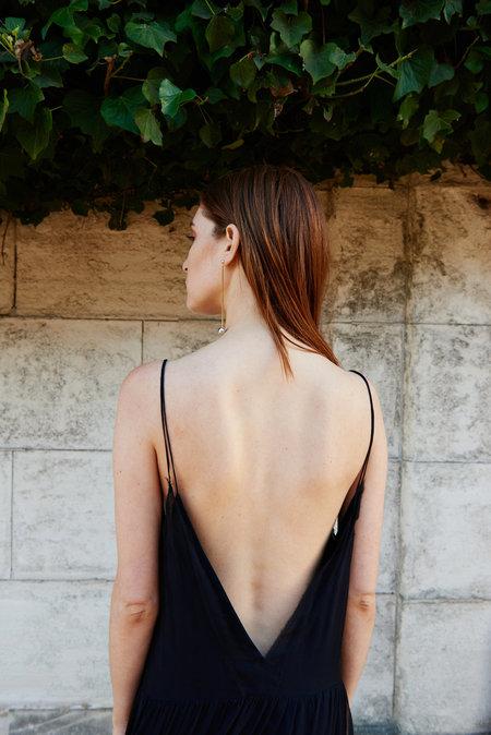KAMPERETT Sade Silk Charmeuse Slip Dress - Midnight
