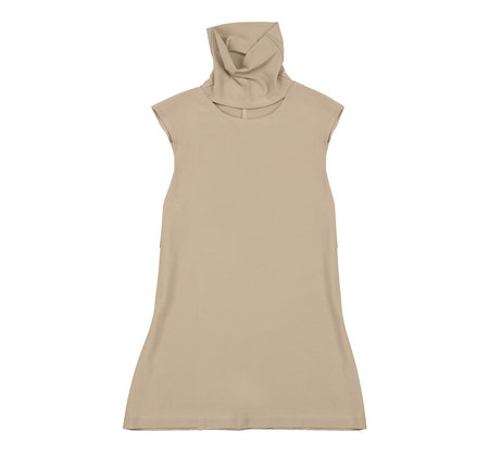 Vincetta Sleeveless Cut-Out Turtleneck