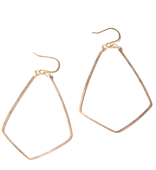 Sarah Dunn Gold Diamond Hoops