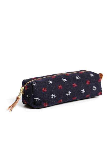 Kiriko Pencil Pouch Kasuri Cross