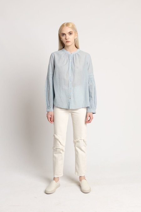 Ulla Johnson Blue Stripe Tija Blouse