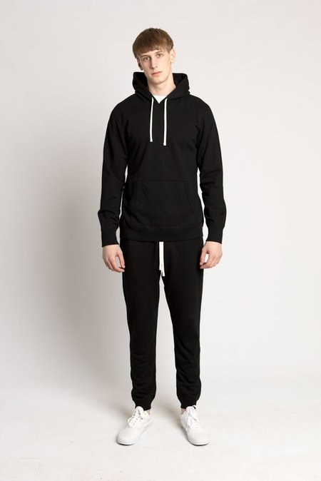 Reigning Champ Black Mid Weight Terry Pullover Hoodie