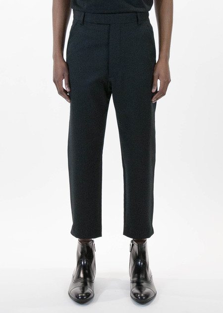 Matthew Miller Black Wool Marlboro Trouser