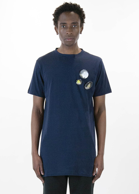 Matthew Miller Navy Marshall Fauna Badges T-Shirt