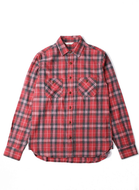 3Sixteen Utility Shirt Faded Red Plaid