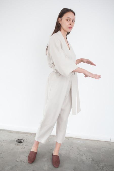 Jesse Kamm The Kimono Jumpsuit in Tan