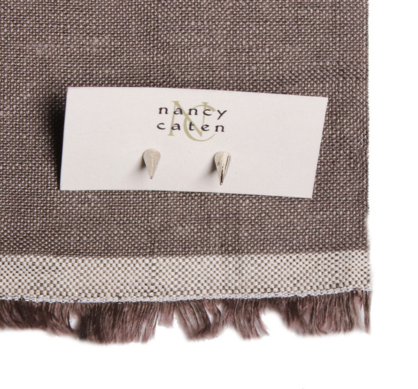 Nancy Caten Silver Cone Studs