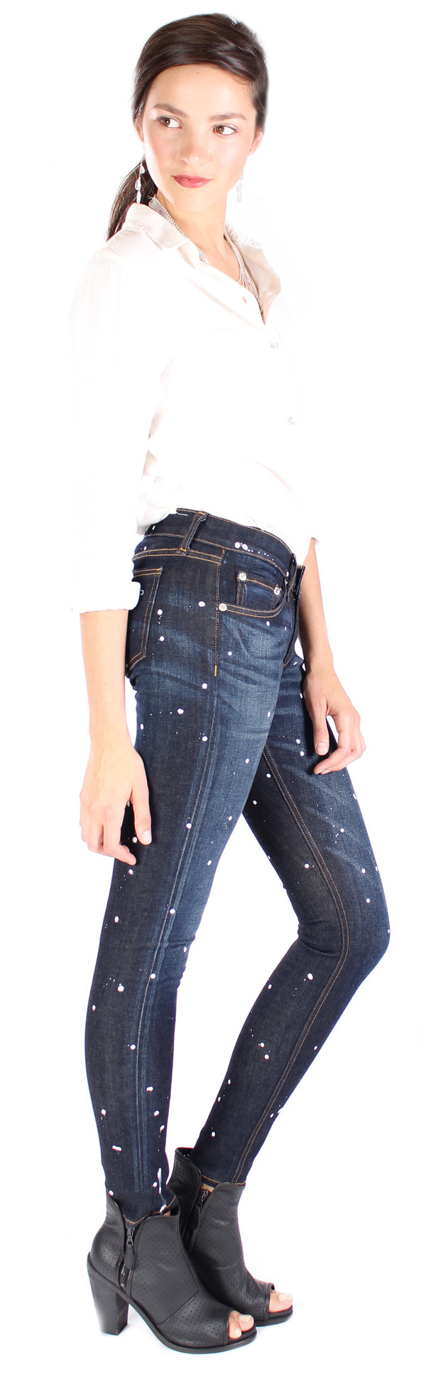 Rag & Bone Skinny Jean in Anfield Splatter