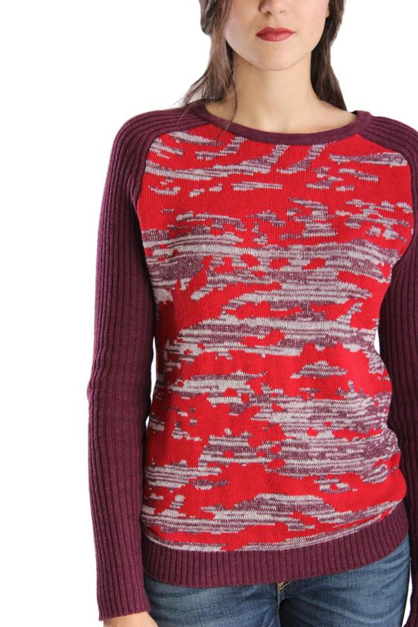 Shae Splatter Print Intarsia Pullover
