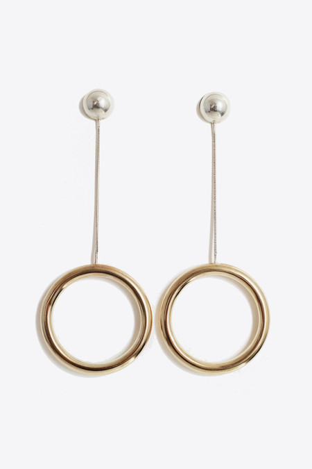 The Things We Keep Mono Dangle Earring in Brass/Silver