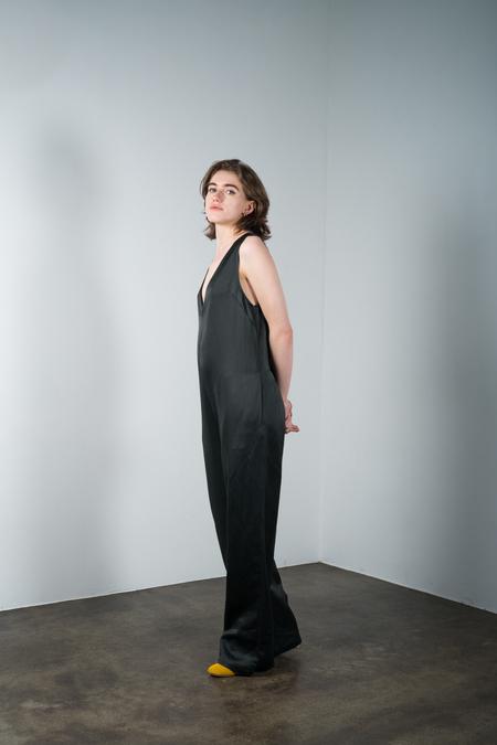 Nomia V-neck jumpsuit-Loden