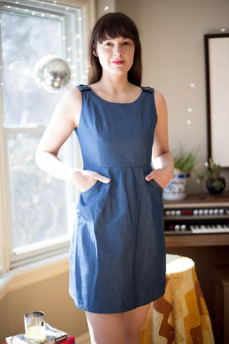 Meemoza Vanessa Dress (Blue Tencel)