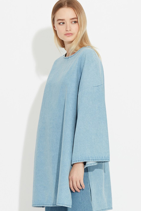 Waven Bea Oversized Denim Top