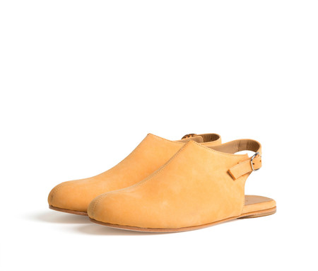 the palatines shoes acta high vamp slingback - citrus nubuck