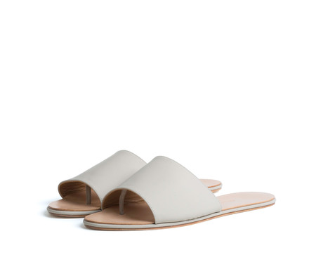 the palatines shoes caelum slide sandal - cream super matte leather