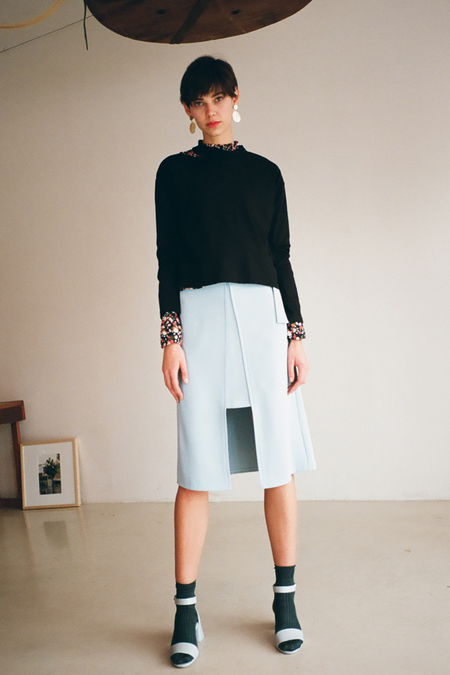 O.O Chance Midi Skirt- Blue