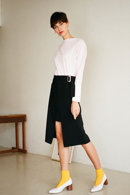 O.O Chance Midi Skirt- Black