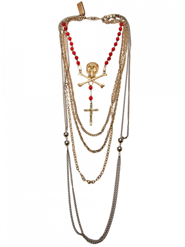 PUREVILE skull & crossbones necklace
