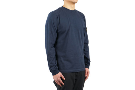 Stone Island LONG-SLEEVED T SHIRT COTTON JERSEY - BLUE MARINE