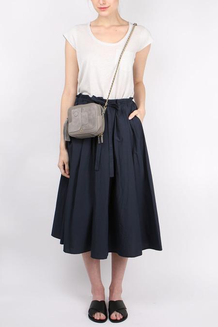 A Punto B Poplin Gathered Waist Skirt