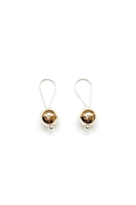 Honey & Bloom Big Baller Drop Earrings 14K Yellow Gold