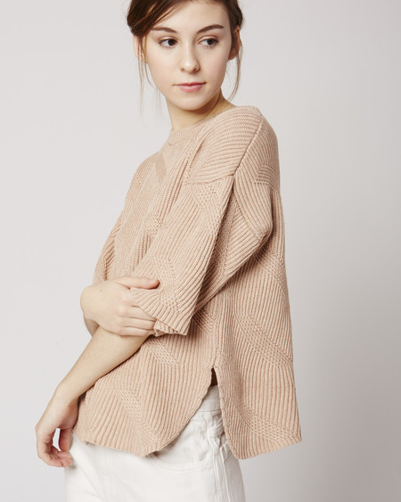 Micaela Greg Dash sweater in Melange nude