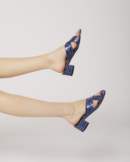 Maryam Nassir Zadeh Lauren slide in Blue croc