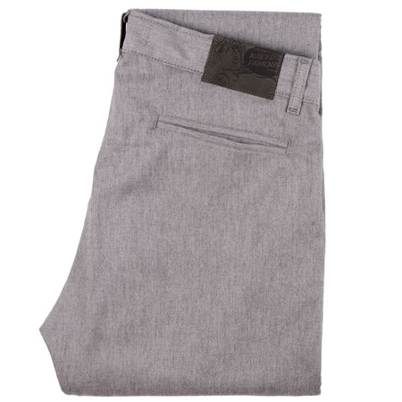 Naked and Famous Grey Slim Chino