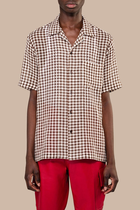 CMMN SWDN Duncan Short Sleeve Shirt - Brown Check