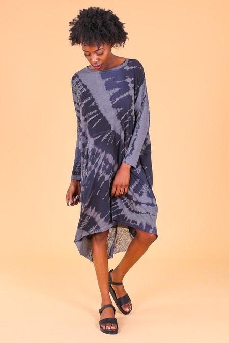 Raquel Allegra Oversize Dress in Midnight Tie Dye