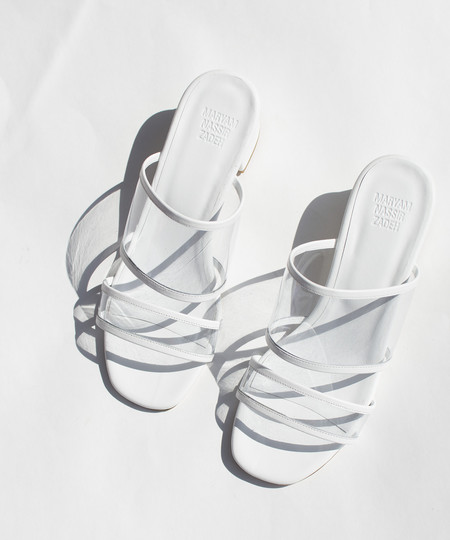 Maryam Nassir Zadeh Clear White Martina Slide