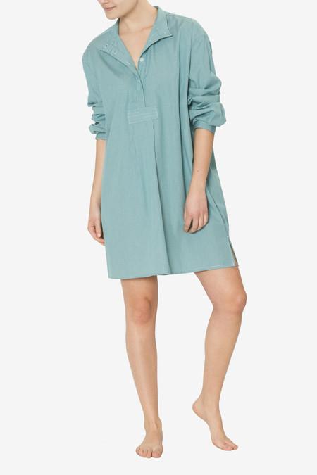 The Sleep Shirt Short Sleep Shirt Green Mini Gingham