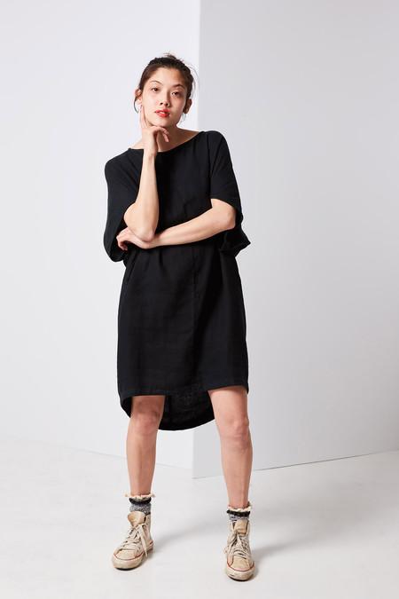 Black Crane Geometric Dress - Black