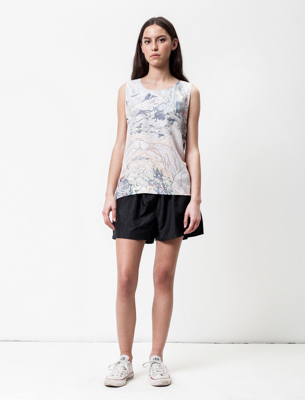 Christopher Raeburn Silk World Map Tank